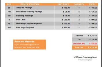 Invoice Template Everest Orange