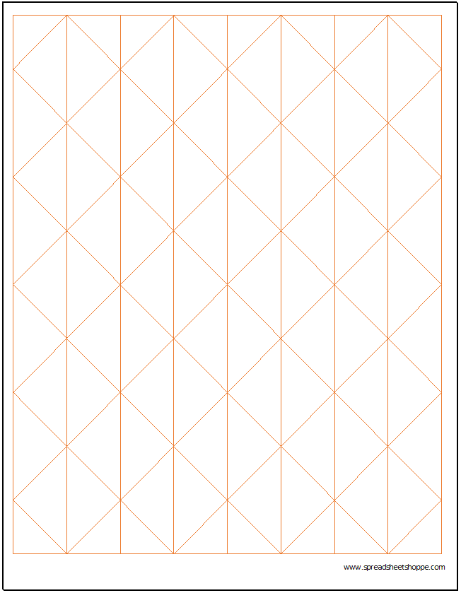 Axonometric Graph Paper Template - Spreadsheetshoppe