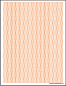 Graph Paper - Isometric .15 inch Excel Template