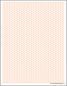 Graph Paper - Isometric .25 inch Excel Template