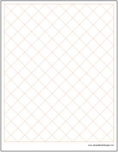 diamond graph paper template spreadsheetshoppe