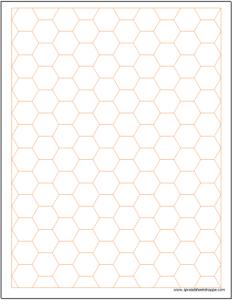 hex graph paper