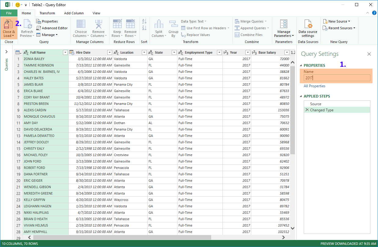 Hot To Combine Data From Multiple Sheets Using Power Query