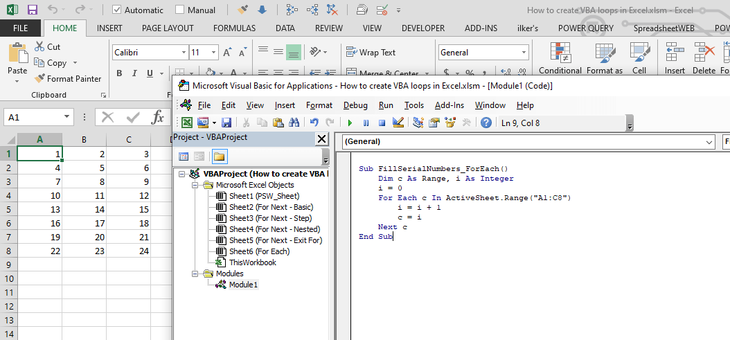 All You Need to Know on How to Create a VBA loop in Excel