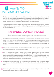11 WAYS TO BE KIND AT WORK
