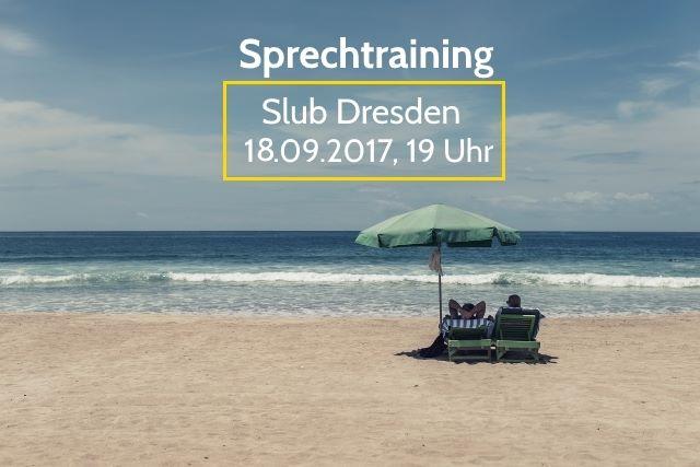 Sprechtraining im September<br>Mein Sommer