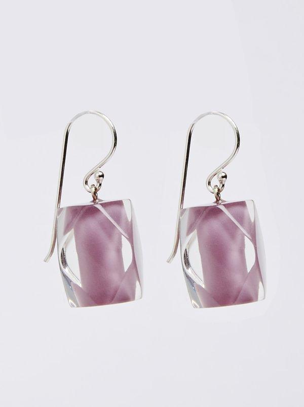 Zsiska Frozen Pearls Drop Earrings Pale Pink K4C26UR