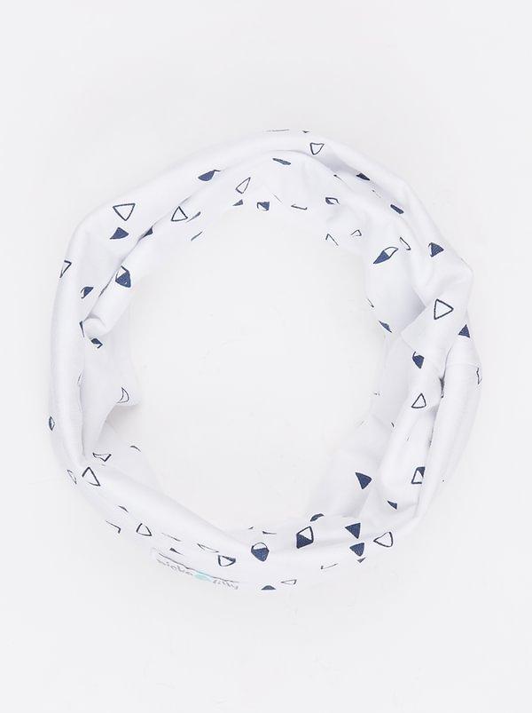 Pickalilly Printed Snoodlet Scarve Navy & White I2IM7HX