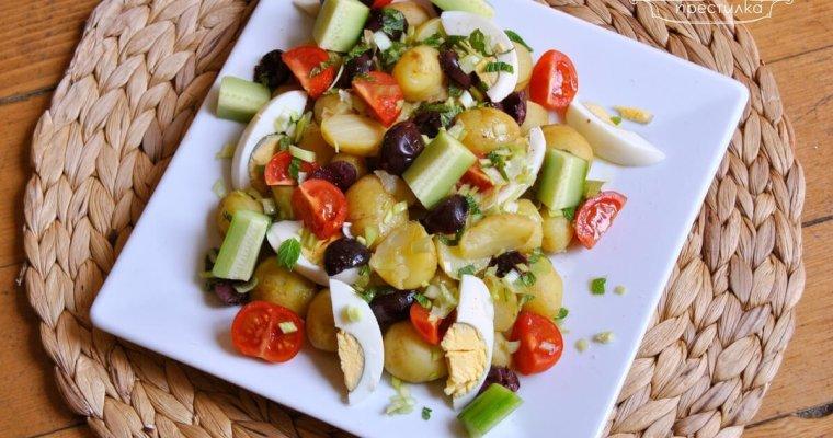 Засищаща пролетна салата с пресни картофи