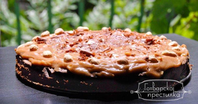 Какаово брауни с крем от фъстъчено масло
