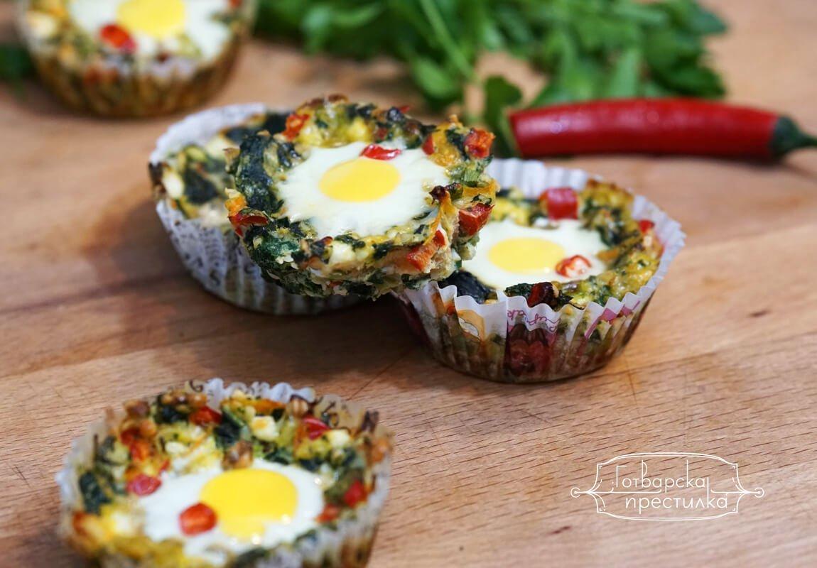 рецепта за копривени гнезда с пъдпъдъчи яйца