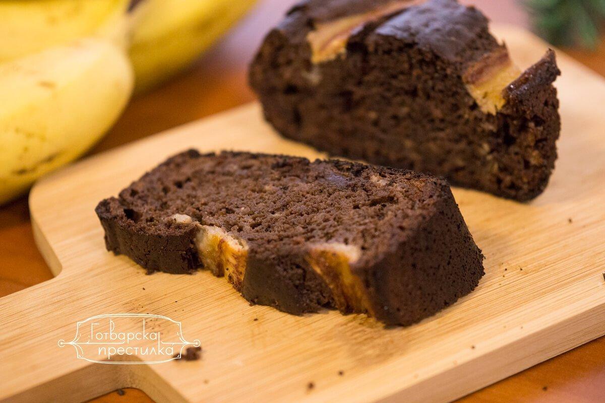 Шоколадово бананов хляб
