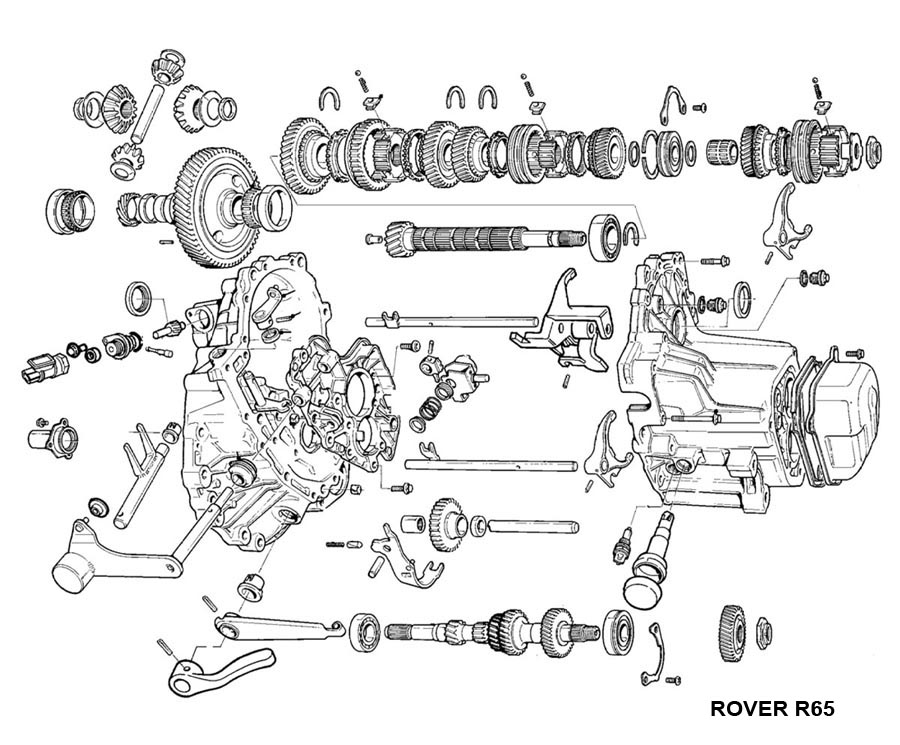[Exploded View 2008 Mini Cooper Manual Transmission