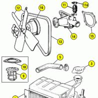 1965 Austin-Healey Sprite/MG Midget Water Pump Replacement