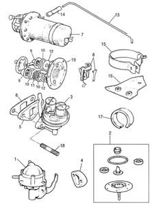 MG Midget Fuel Pumps & accessories