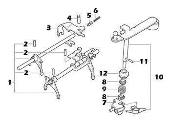 Midlands 5-speed Gear Selector Parts Genuine Mini