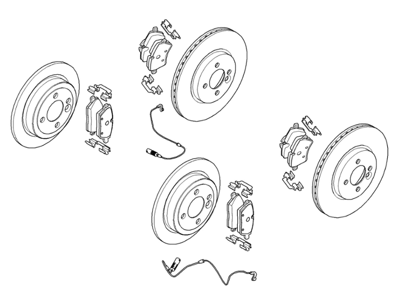 Brake Maintenance Kit Value Priced Mini Cooper Non
