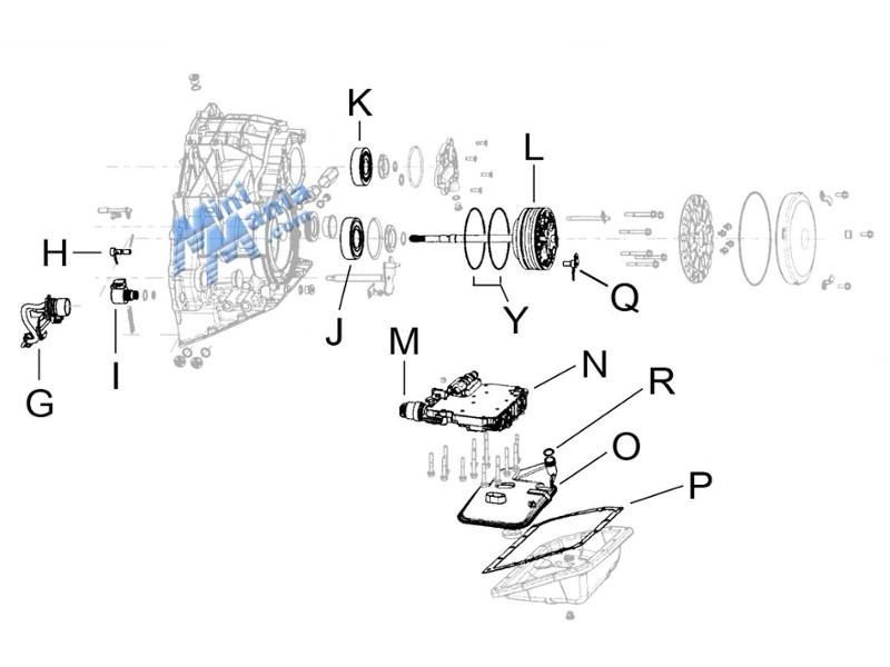 Mini Cooper Cvt Transmission Internal Components S