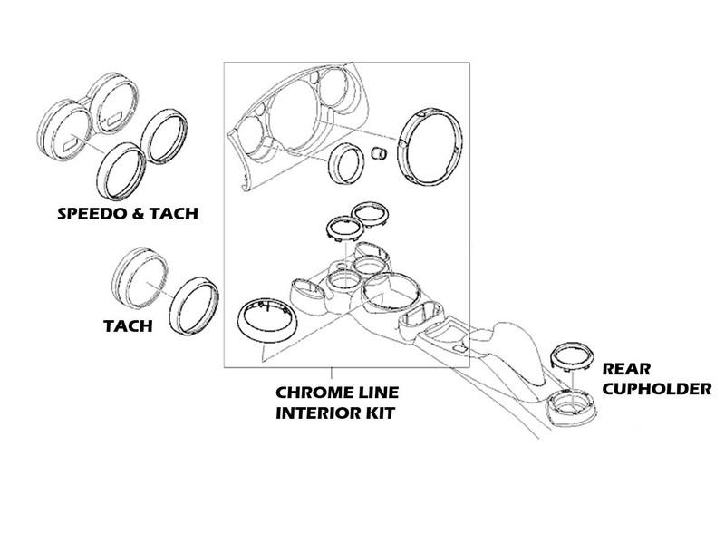 Mini Cooper & S Chrome Line Interior Kit R50 R52 R