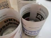 The newspaper pots