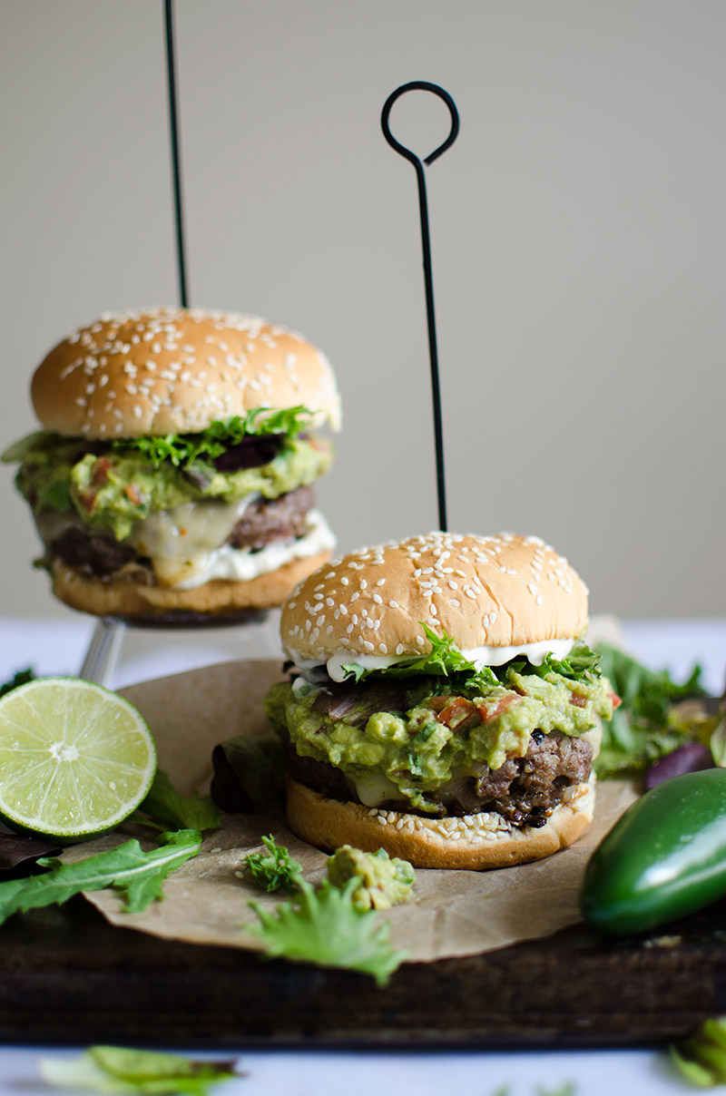 Spicy Guacamole Burgers | Sprig and Flours-7
