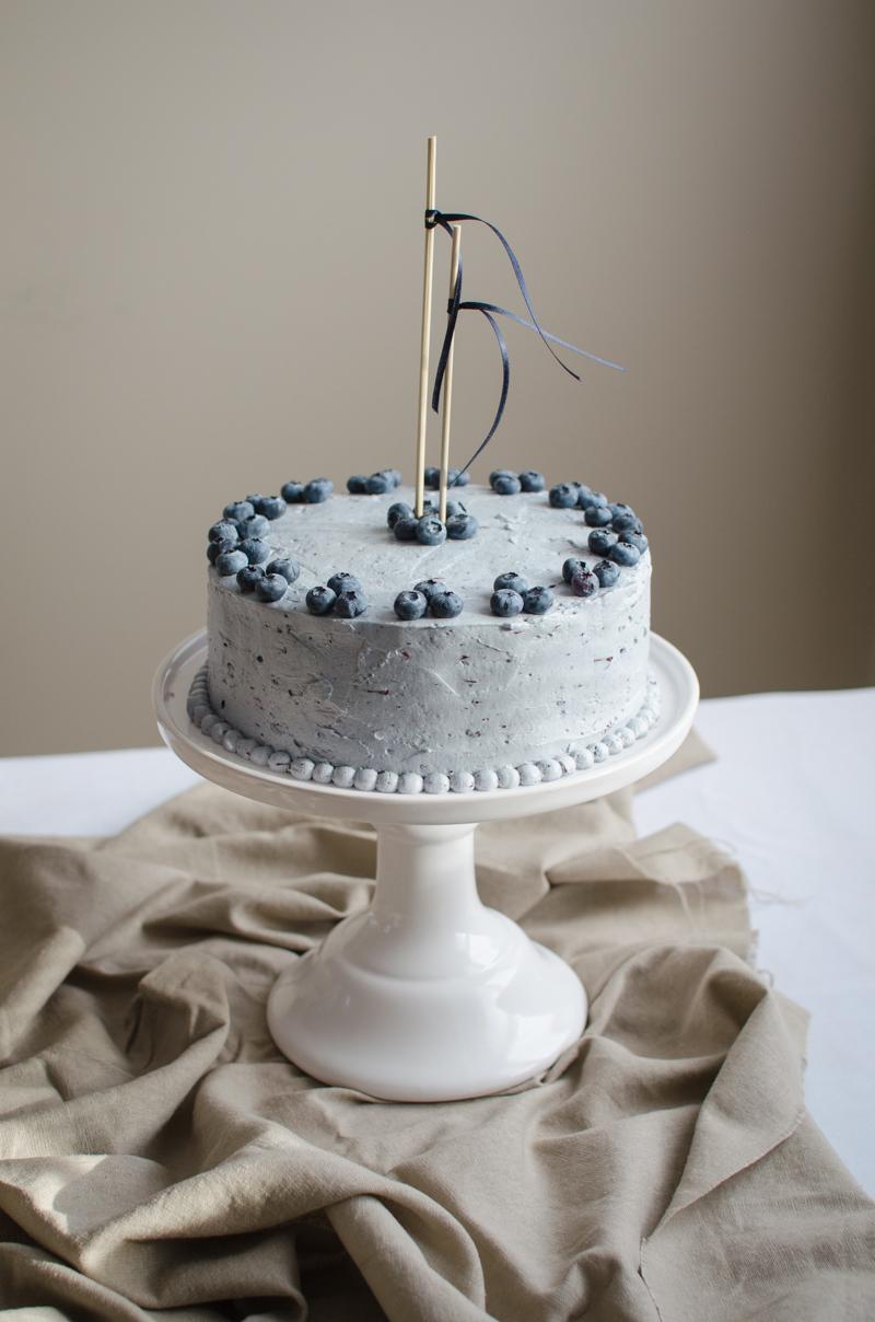 Blueberry Custard Cake Sprig And Flours
