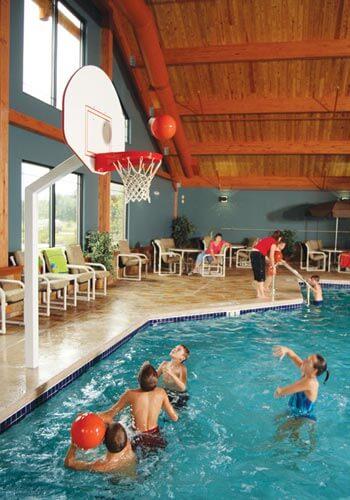 Sparkling Pools at Spring Brook Hotel Resort in Wisconsin