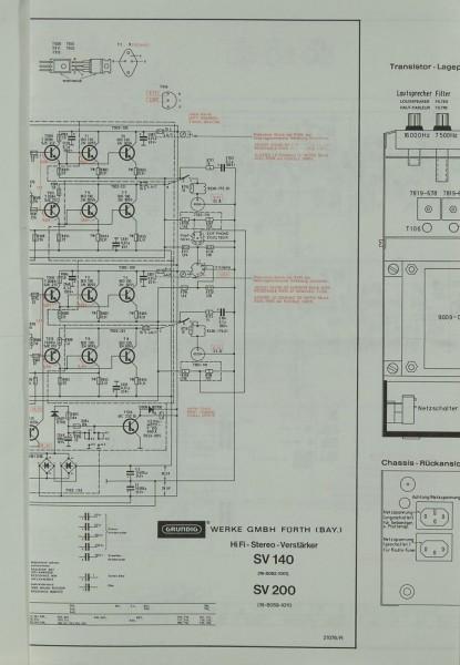 Grundig SV 140 / SV 200 Schematics / Service Manual