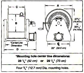 Motor And Manual Driven Hose Reel Series 9000, Air Motor