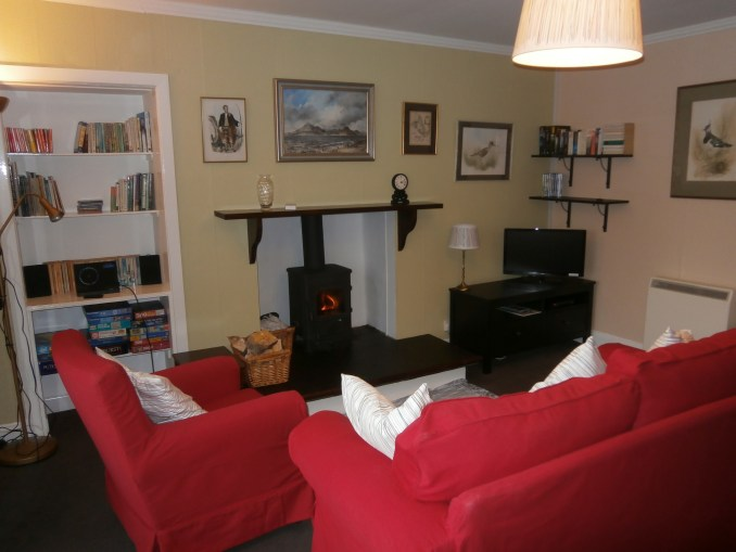 Lounge at Springbank Cottage self catering holiday accommodation Elgol Isle of Skye