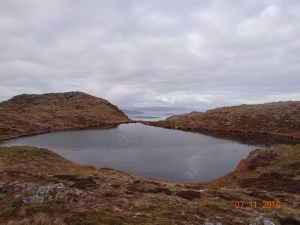 Summit lochan and Broadford Bay