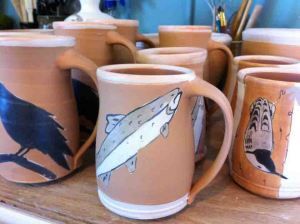 Nearly Finished Ceramic mugs