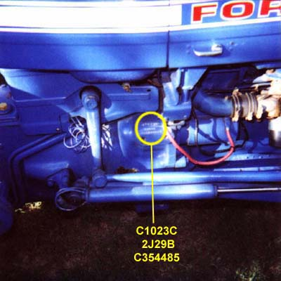 Ford 1100 Tractor Wiring Diagram Ford Codes And Serial Numbers