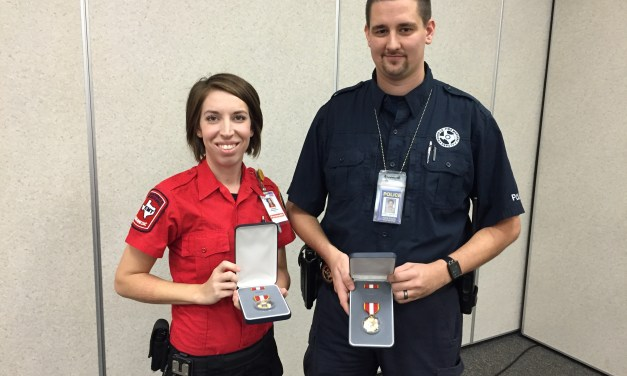 CCEMS Medic & Harris County Arson Investigator Receive Lifesaving Award