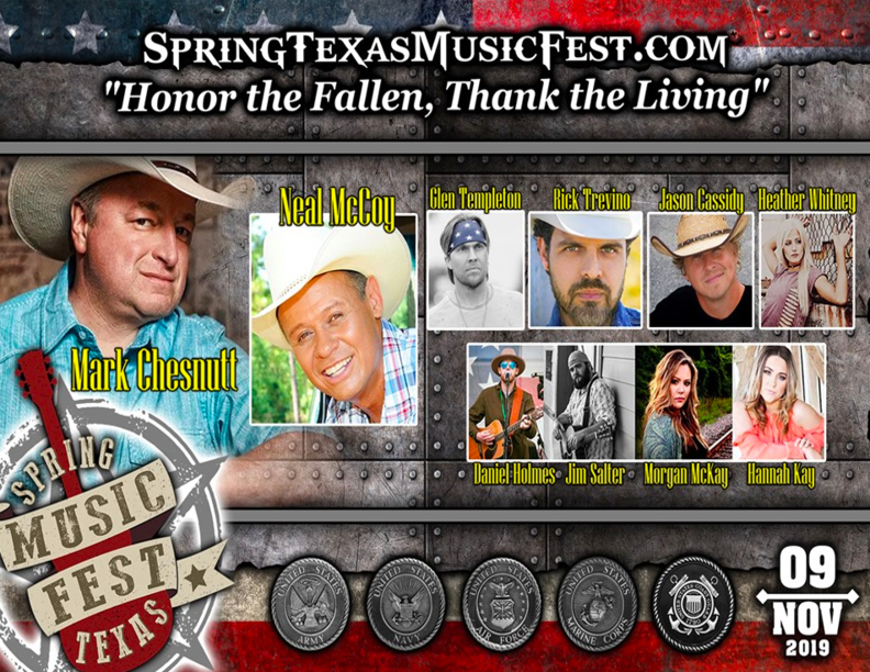 Spring Texas Music Festival Honoring Vets Set For This Saturday