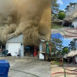 South Montgomery County Firefighters Battling House Fire off Rayford Road