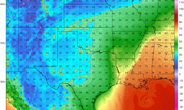 Strong Cold Front to Arrive Beginning of Week; Temps in Low 40's Forecast