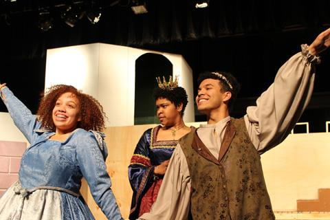 Spring High School senior Makaila Heath acts alongside fellow seniors Destiny Broussard and Josue Hernandez in the upcoming production of Once Upon a Mattress