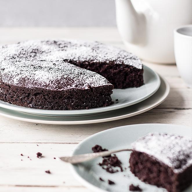 So saftig ist nur dieser vegane Schokoladenkuchen