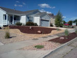 xeriscape and paver patio- colorado springs landscaping