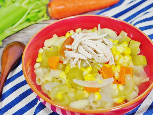 Hearty Chicken Macaroni Soup Recipe