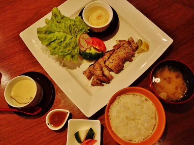 Siokouji Teishoku (Grilled Pork Loin with Shio Koji Sauce Set) $23.50 (set) or $18.50 (a la carte)