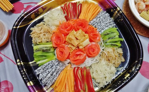 Smoked Salmon Yu Sheng Recipe for Chinese New Year