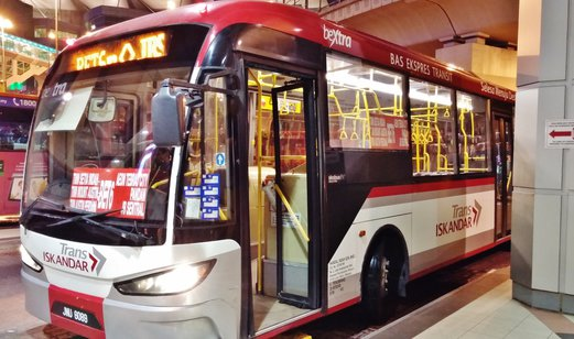 How to get to AEON Tebrau City by bus?