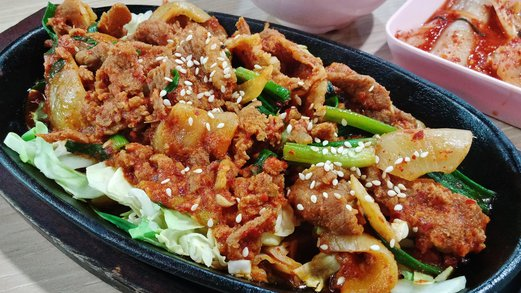 Kim Dae Mun Korean Food Spicy Pork