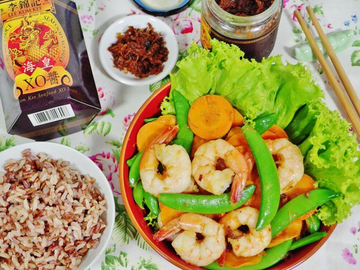 Lee Kum Kee Seafood XO Sauce - Stir Fried Prawns with XO Sauce Recipe