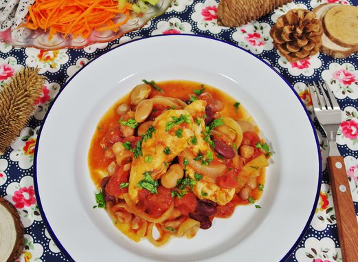 Skillet Chicken with Tomatoes Recipe