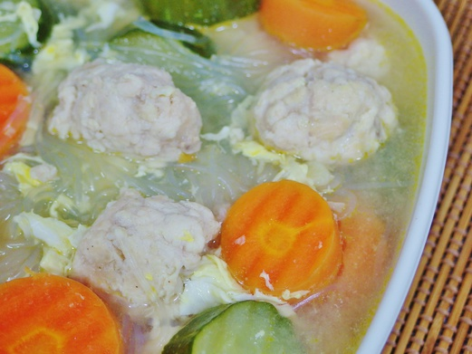 Chicken Meatball and Cucumber Soup Recipe