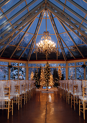 Springwood Conference Center Winter Wedding Ceremony and