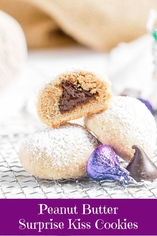 Peanut Butter Surprise Kiss Cookies